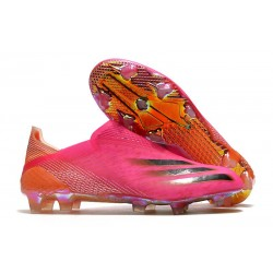adidas X Ghosted+ FG Fotbollsskor Superspectral - Rosa Svart Orange