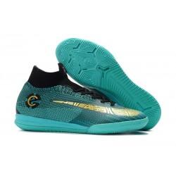 Nike Fotbollsskor Mercurial SuperflyX 6 Elite IC Herr - CR7 Blå Guld