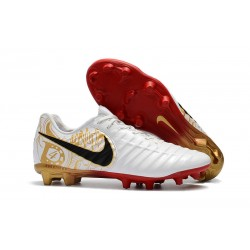 Nike Tiempo Fotbollsskor Legend VII FG - Vit Guld Röd