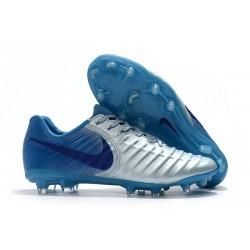 Nike Tiempo Fotbollsskor Legend VII FG - Silver Blå