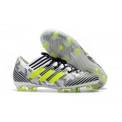 adidas Nemeziz Messi 17.1 FG Fotbollsskor - Vit Svart Gul