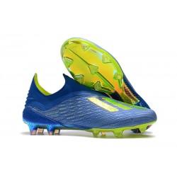 adidas X 18+ FG Fotbollsskor för Herrar - Blå Grön