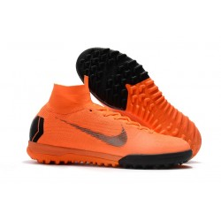 Nike Herrar Mercurial SuperflyX VI Elite TF - Orange Svart