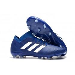 adidas Nemeziz 18.1 FG Fotbollsskor - Blå Vit