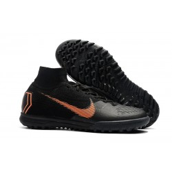 Nike Herrar Mercurial SuperflyX VI Elite TF - Svart Orange