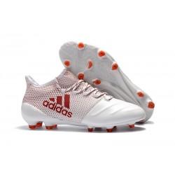 Adidas X 17.1 FG Fotbollsskor - Vit Röd