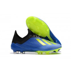 adidas X 18.1 FG Fotbollsskor - Blå Grön