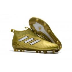 Adidas ACE 17+ PureControl FG Fotbollsskor för Herr - Guld Vit