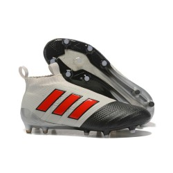 Adidas ACE 17+ PureControl FG Fotbollsskor för Herr - Grå Svart Röd
