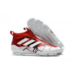 Adidas ACE 17+ PureControl FG Fotbollsskor för Herr - Röd Vit
