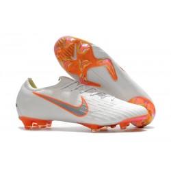 Nike Fotbollsskor Mercurial Vapor 12 Elite FG - Vit Grå Orange