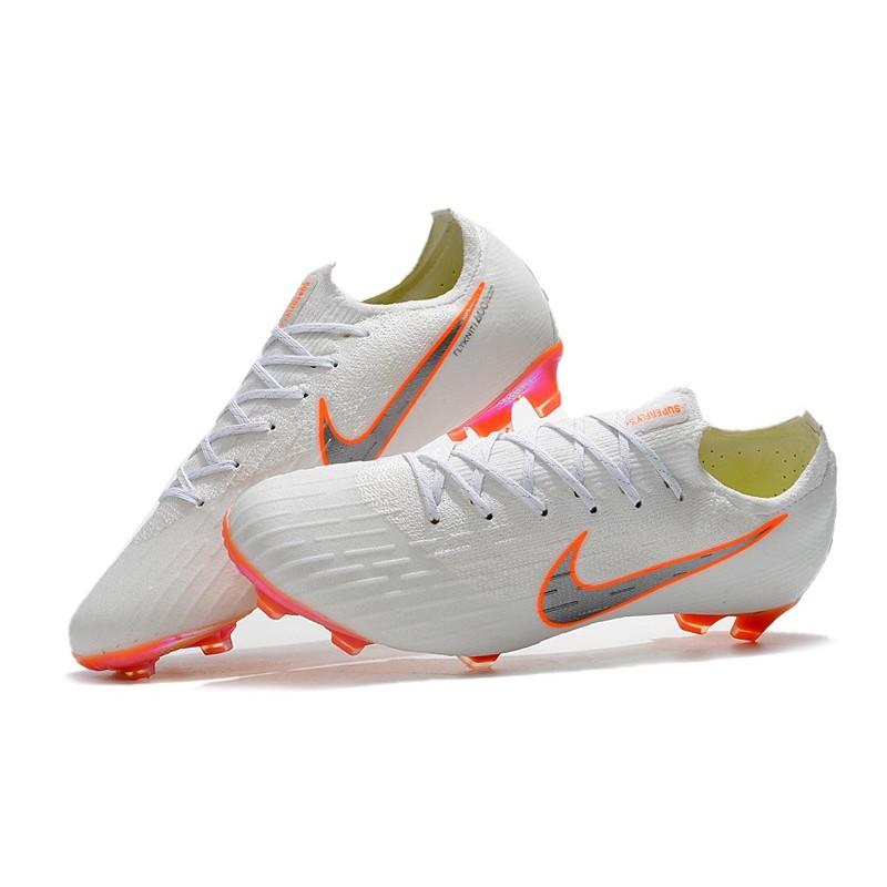 Nike Fotbollsskor Mercurial Vapor 12 Elite FG - Vit Grå Orange 7c5e82c8c1395