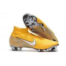 Neymar Nike Mercurial Superfly 6 Elite FG Fotbollsskor för Barn - Gul Vit