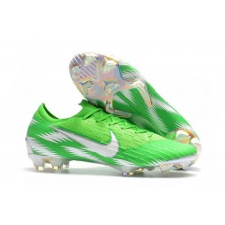 Nike Mercurial Vapor XII FG Fotbollsskor Barn - Grön Silver