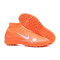 Nike Mercurial SuperflyX 6 Elite TF Fotbollsskor - Orange Vit