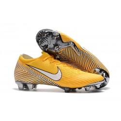 Nike Mercurial Vapor XII FG Fotbollsskor Barn - Neymar Gul Vit