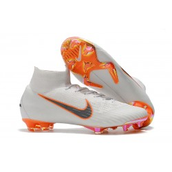 Nike Mercurial Superfly 6 Elite FG 2018 Fotbollssko - Vit Orange