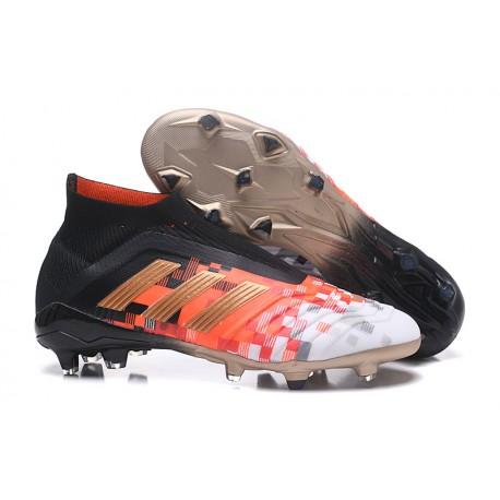 adidas Predator 18+ FG Fotbollsskor för Damer - Telstar Svart Röd 61cb9b5baa402