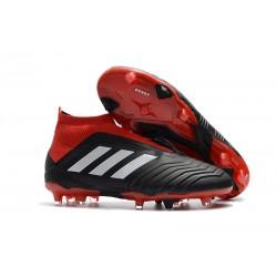 adidas Predator 18+ FG Fotbollsskor för Barn - Svart Vit Röd