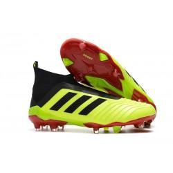 adidas Predator 18+ FG Fotbollsskor för Barn - Gul Svart Röd