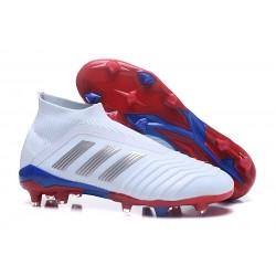 adidas Telstar Predator 18+ FG Fotbollsskor för Barn - Vit Silver