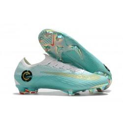 Nike Fotbollsskor Mercurial Vapor 12 Elite FG - Blå Vit Guld