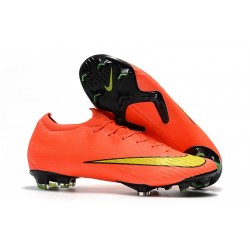 Nike Fotbollsskor Mercurial Vapor 12 Elite FG - Orange Gul