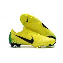 Nike Fotbollsskor Mercurial Vapor 12 Elite FG - Gul Svart