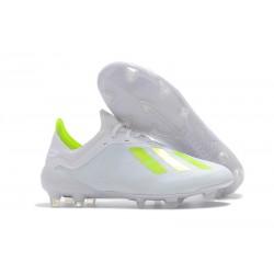 adidas X 18.1 FG Fotbollsskor - Vit Gul