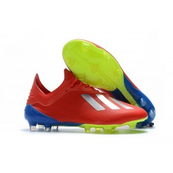 adidas X 18.1 FG Fotbollsskor - Röd Silver