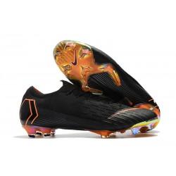 Nike Fotbollsskor Mercurial Vapor 12 Elite FG - Svart/ Orange/ Vit