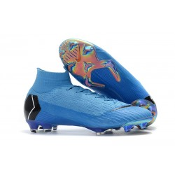 Nike Mercurial Superfly VI 360 Elite DF FG - Blå Svart