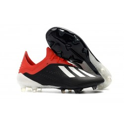 adidas X 18.1 FG Fotbollsskor - Svart Vit Röd
