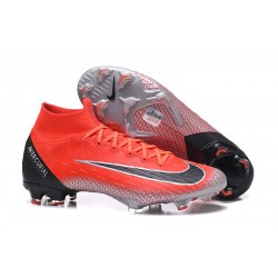 Nike Mercurial Superfly VI 360 Elite DF FG - Röd Svart