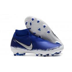 Nike Phantom Vision Elite DF FG Fotbollsskor för Män - Blå Silver