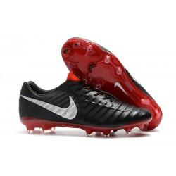 Nike Tiempo Legend 7 Elite FG Fotbollsskor för Herrar - Svart Röd