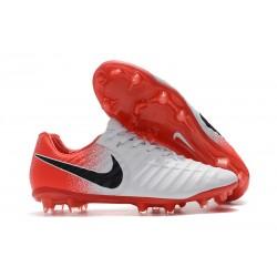 Nike Tiempo Legend 7 Elite FG Fotbollsskor för Herrar - Vit Röd