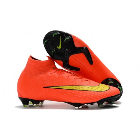 finest selection 21731 dfa2a Nike Fotbollsskor Mercurial Superfly VI Elite FG - Orange Gul