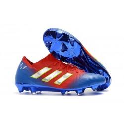 adidas Nemeziz 18.1 FG Fotbollsskor - Röd Blå Silver