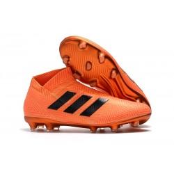 adidas Nya Fotbollsskor för Herrar Nemeziz 18+ FG - Orange Svart