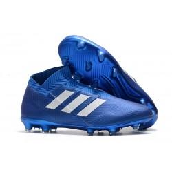 adidas Nya Fotbollsskor för Herrar Nemeziz 18+ FG - Blå Vit