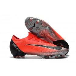 Nike Fotbollsskor för Ronaldo Mercurial Vapor 12 Elite FG - Röd Silver Svart