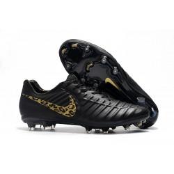 Nike Tiempo Legend 7 Elite FG Fotbollsskor för Herrar - Svart Guld