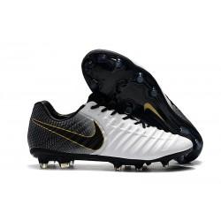 Nike Tiempo Legend 7 Elite FG Fotbollsskor för Herrar - Svart Vit Guld