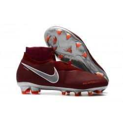 Nike Phantom Vision Elite DF FG Fotbollsskor för Män - Röd Silver