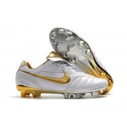 Nike Tiempo Legend 7 R10 Elite FG Fotbollsskor för Herrar - Vit Guld