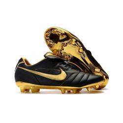 Nike Tiempo Legend 7 R10 Elite FG Fotbollsskor för Herrar - Svart Guld