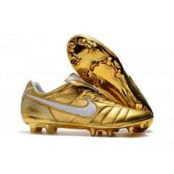 Nike Tiempo Legend 7 Elite FG Fotbollsskor för Herrar - Guld Vit