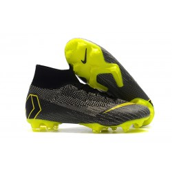 Nike Mercurial Superfly VI 360 Elite DF FG - Svart Gul