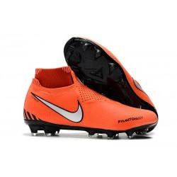 Nike Phantom VSN Elite DF FG Fotbollsskor för Herrar - Orange Svart Silver